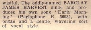 Record Mirror review of 'Early Morning', May 11th, 1968