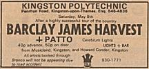 Concert advert, May 1971