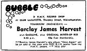 Local newspaper advert for concert in Wolverhampton on 31st March, 1971