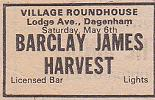 Concert advert, May 1972