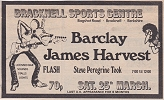 Advert for BJH supported by Steve Peregrine-Took, March 1972