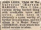 Record Mirror review of John's 'Child Of The Universe' single, July 1977