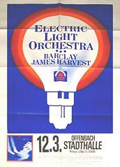 Poster for Offenbach concert with ELO, March 1975