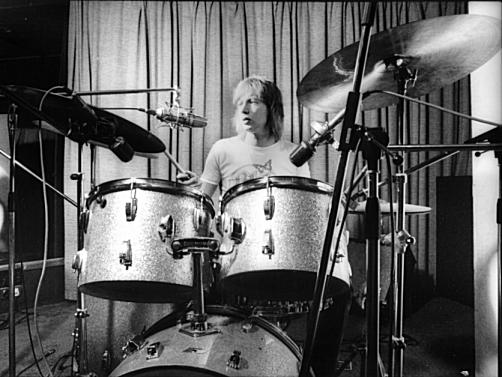 Mel behind the kit in 1978