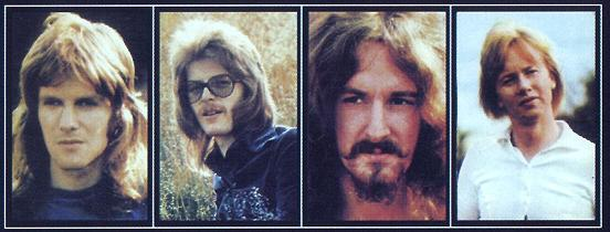 John, Woolly, Les and Mel as depicted on the back of Barclay James Harvest and other short stories