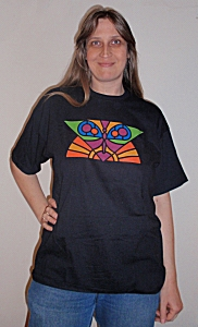 Butterfly design T-Shirt, short-sleeved (front)