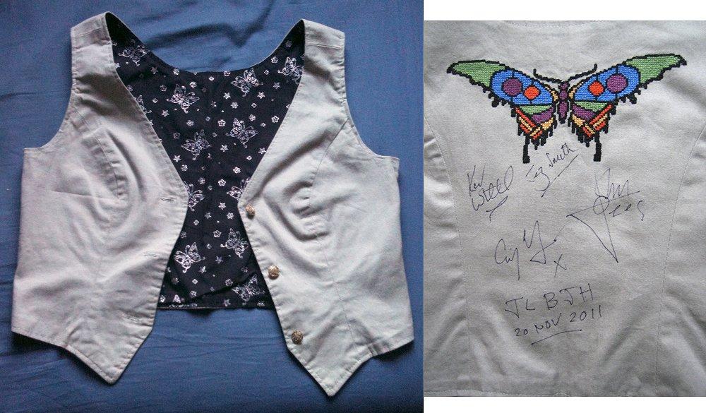 Autographed JLBJH waistcoat